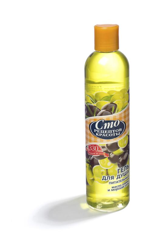 """Гель для душа """"масло оливы и морская соль""""сто рецептов красоты"""