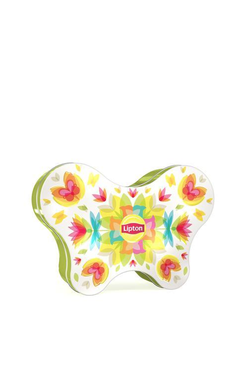 отзыв Lipton набор чай зеленый листовой Green Classic в жестяной банке в форме бабочки, 20 г