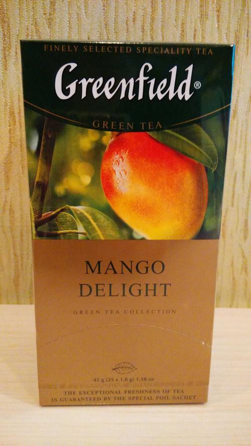 Чай зеленый байховый Гринфилд Манго Делайт в пакетиках