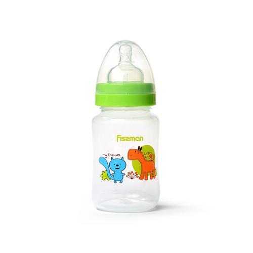 Бутылочка для кормления 240 мл, цвет САЛАТОВЫЙ (пластик)