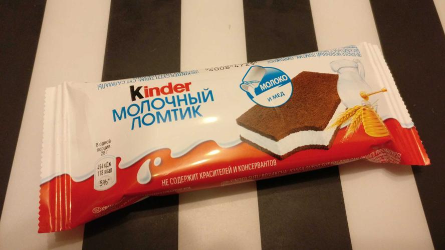 фото15 Бисквитное пирожное KINDER Молоко и Мед, 28г.