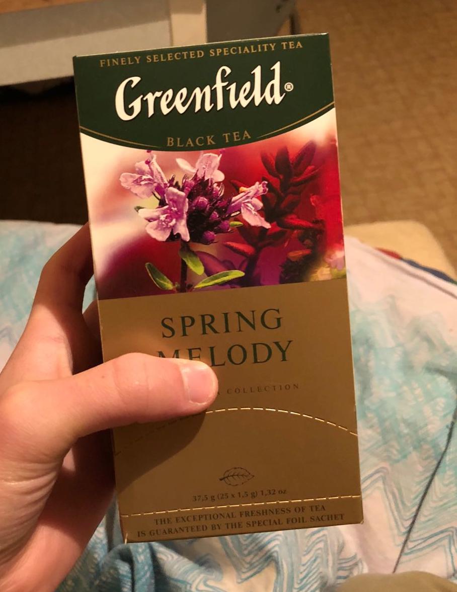 фото4 Чай черный байховый Гринфилд Спринг Мелоди в пакетиках