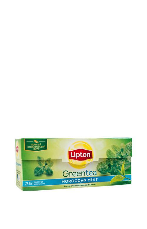 Чай Lipton зеленый Lipton moroccan mint Green tea 25пак