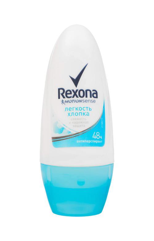"""Дезодорант ролик антиперспирант """"REXONA"""" свежесть хлопока 50 мл."""