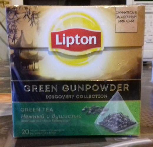 фото2 Чай зеленый Lipton Green Gunpowder байховый ароматизированный