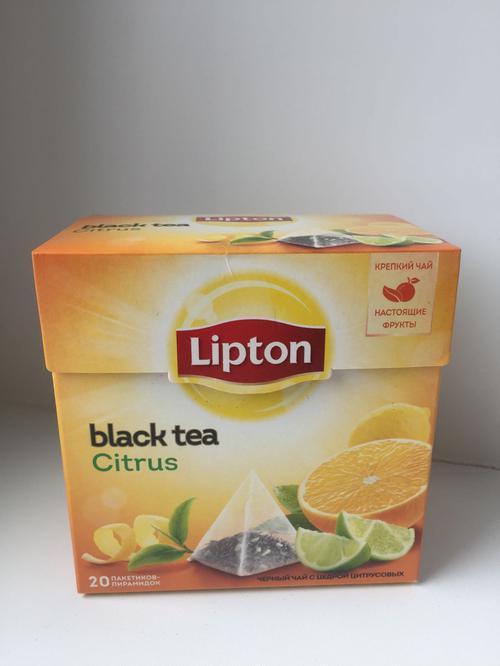 фото Чай черный Lipton Citrus байховый ароматизированный с цедрой цитрусовых, 20пак.