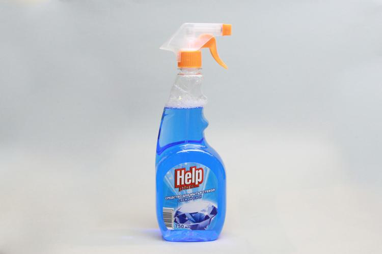 Средство для мытья окон, стекол, зеркал Help Plus