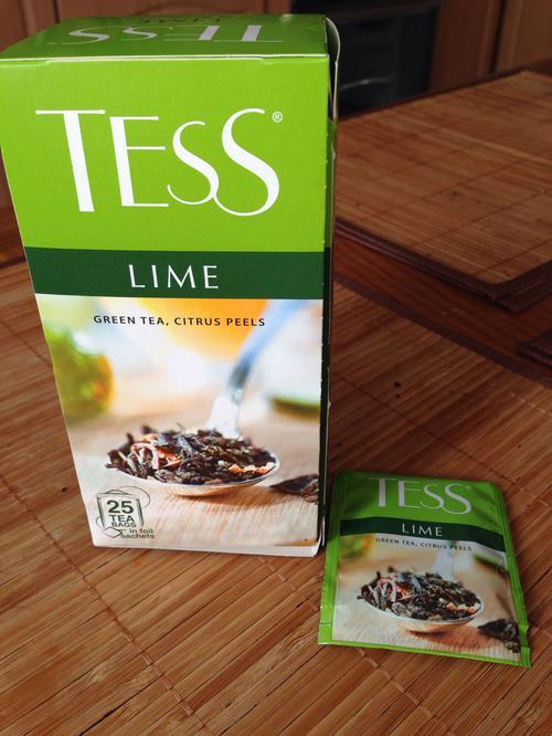 Чай зеленый байховый с ароматом лайма Тесс Лайм в пакетиках