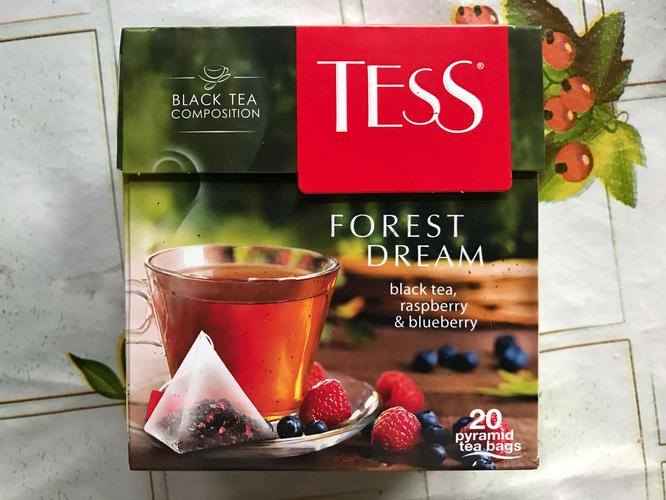 фото3 Чай черный байховый с ароматом малины и черники Тесс Форест Дрим в пакетиках