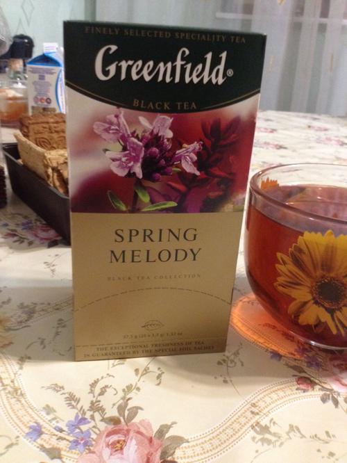 фото10 Чай черный байховый Гринфилд Спринг Мелоди в пакетиках