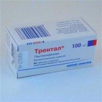 Трентал® таблетки, покрытые кишечнорастворимой пленочной оболочкой, 100 мг, 60 штук