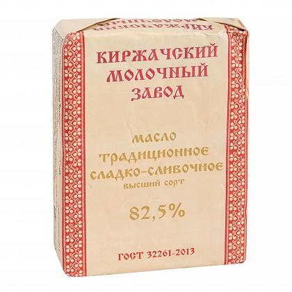 Масло сладко-сливочное традиционное. Высший сорт. Массовая доля жира 82.5%