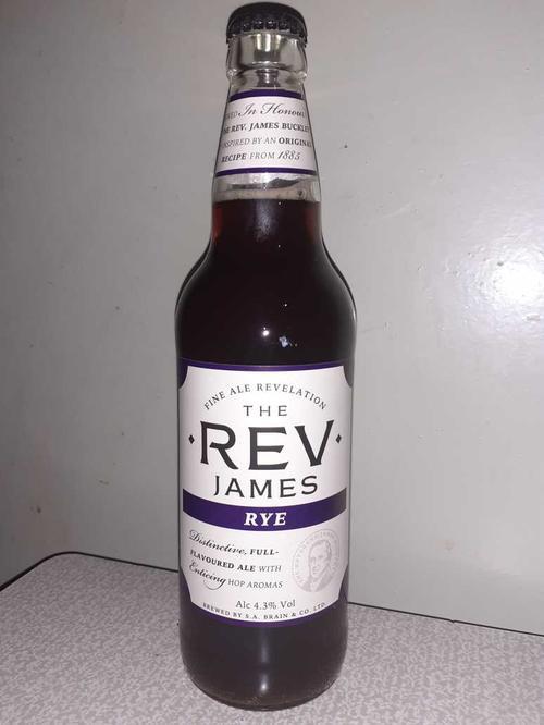 The REV James RYE, Fine ale, 4.3%, с/б