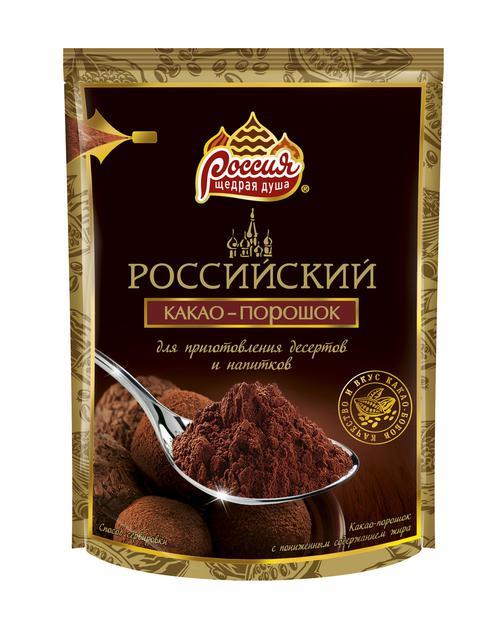 """описание Какао """"Российский / Россия - щедрая душа"""""""