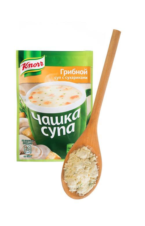 """отзыв Суп с сухариками """"Чашка супа"""" Грибной, сухая смесь, 1 порция, """"Knorr"""", 15,5г"""