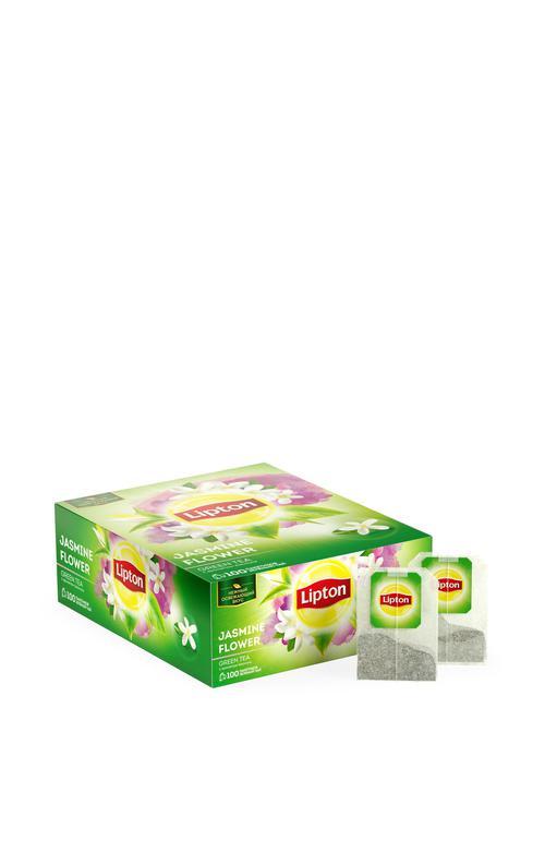 описание Lipton зеленый чай в пакетиках Jasmine Flower Team Tea 100 шт