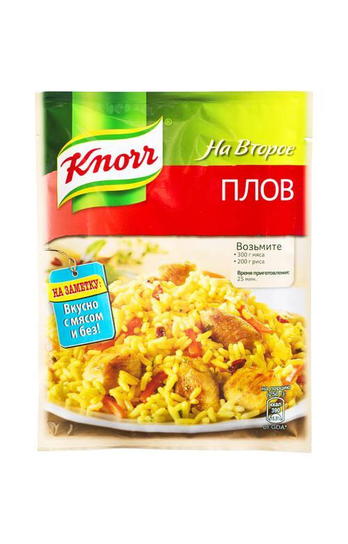 """отзыв Сухая смесь на второе """"Knorr"""" Для приготовления плова, 27г"""