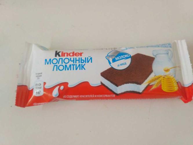 фото16 Бисквитное пирожное KINDER Молоко и Мед, 28г.