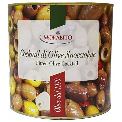 Коктейль оливок Morabito Snocciolate без косточки 200/230 2.5 кг