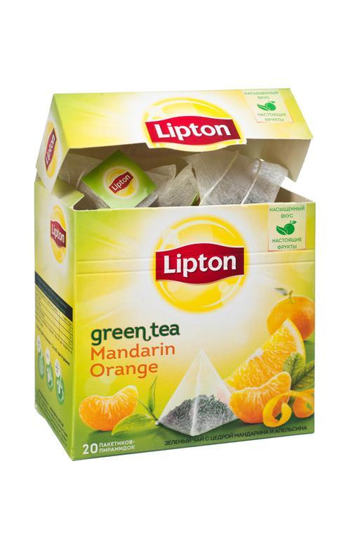 отзыв Чай зеленый Lipton ароматизированный цедра мандарина и апельсина, 20пак.