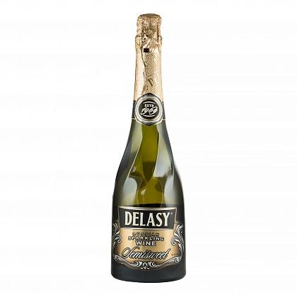 """""""Delasy"""" Российское шампанское полусладкое белое"""