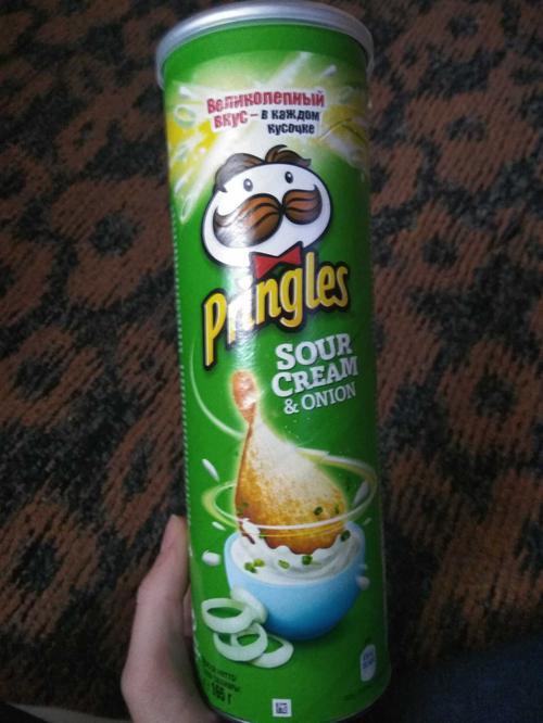 фото7 Чипсы Pringles со вкусом сметаны и лука, 165гр.