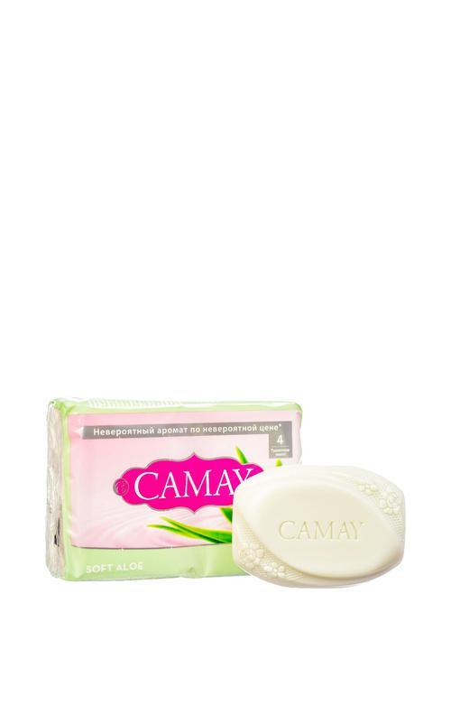 """описание Camay твердое мыло """"Нежное алоэ"""" 4 х 75 гр"""