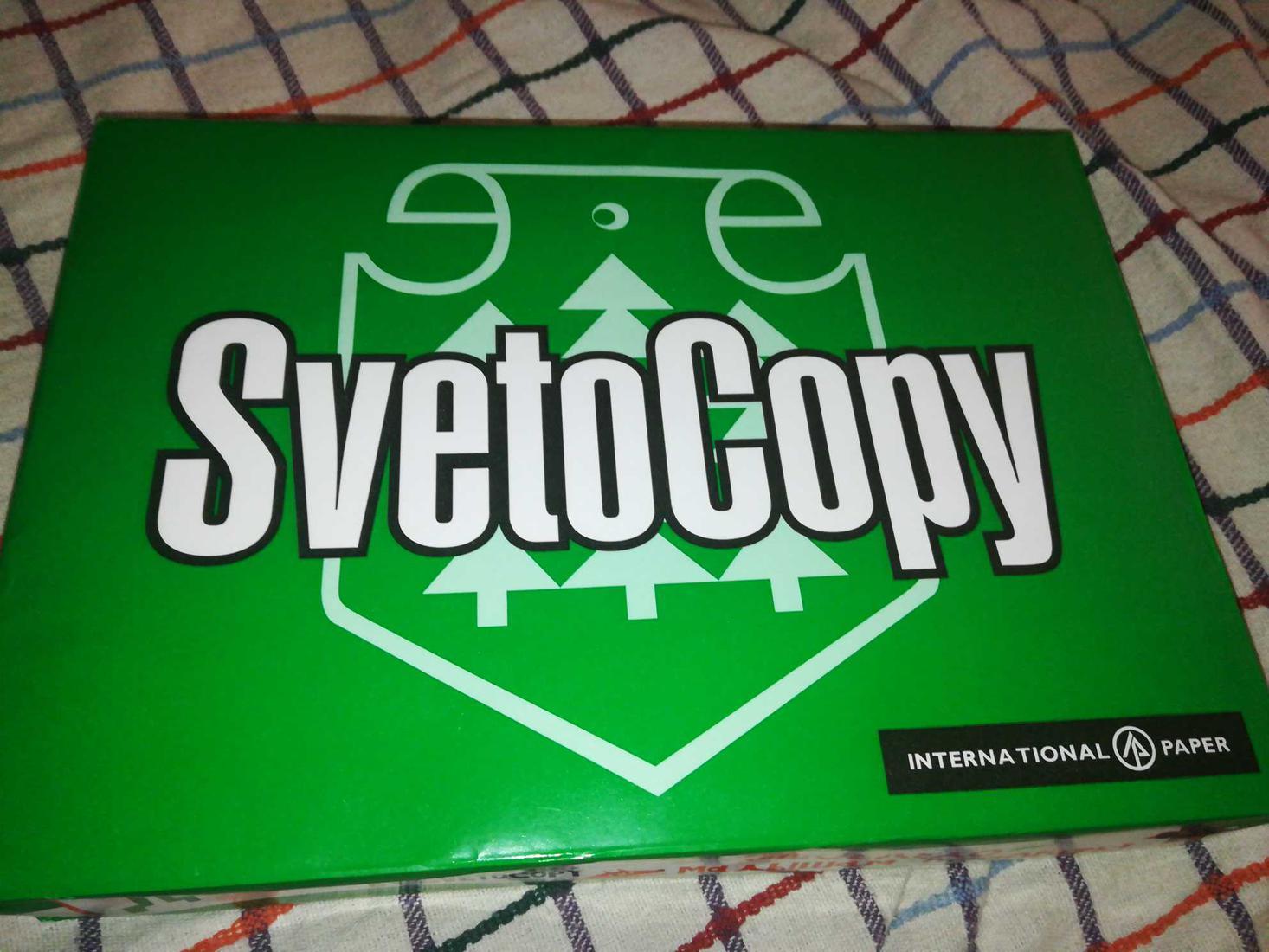 "цена Бумага ""SvetoCopy"" белая А4 80гр/м2, 500 листов"
