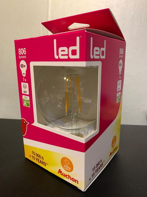 Лампа светодиодная 7W 2700K E27