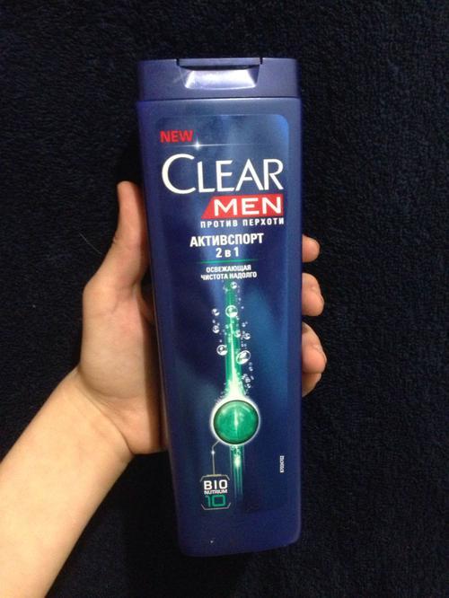 фото1 Шампунь против перхоти для нормальных волос и кожи головы Clear Vita ABE Men Активспорт  2в1, Освежающая чистота на долго, формула с витаминами и минералами, 400мл.