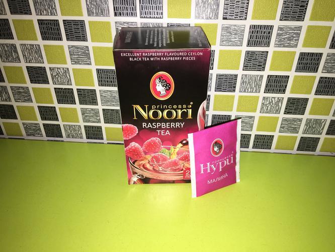 описание Чай черный байховый Принцесса Нури Малина в пакетиках