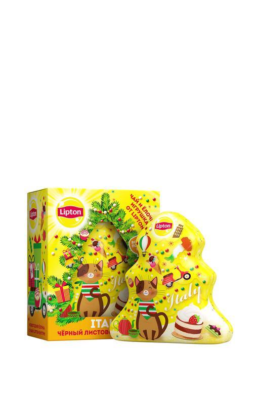 """Набор lipton """"новогодняя ёлочка"""" с листовым чаем"""