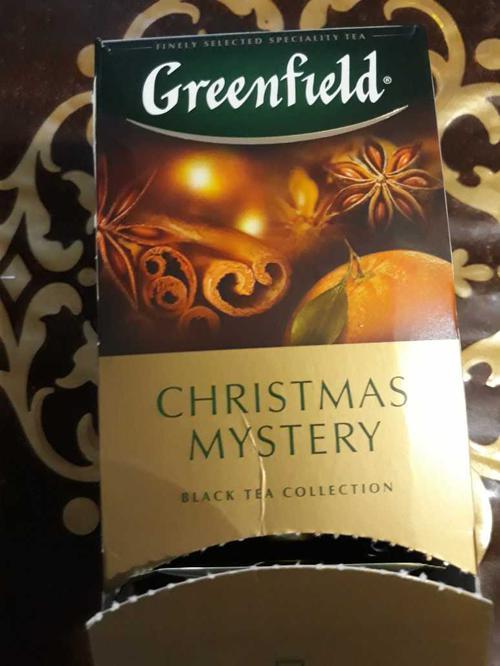 описание Чай черный байховый Гринфилд Кристмас Мистери в пакетиках