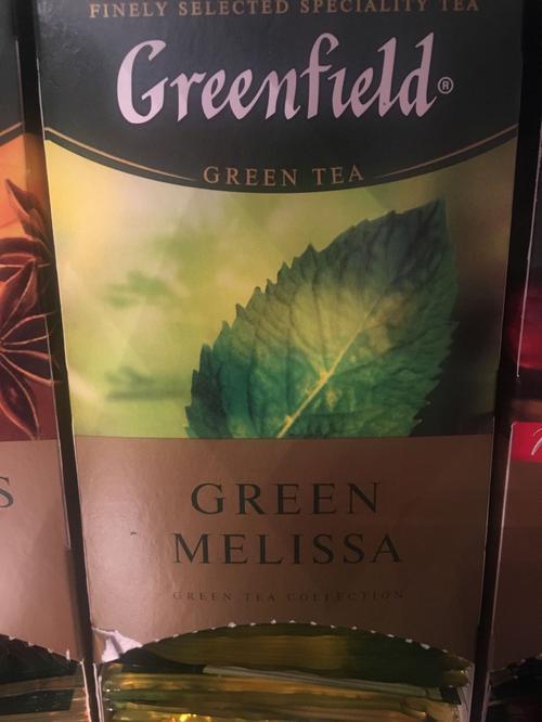 фото1 Чай зеленый байховый Гринфилд Грин Мелисса в пакетиках