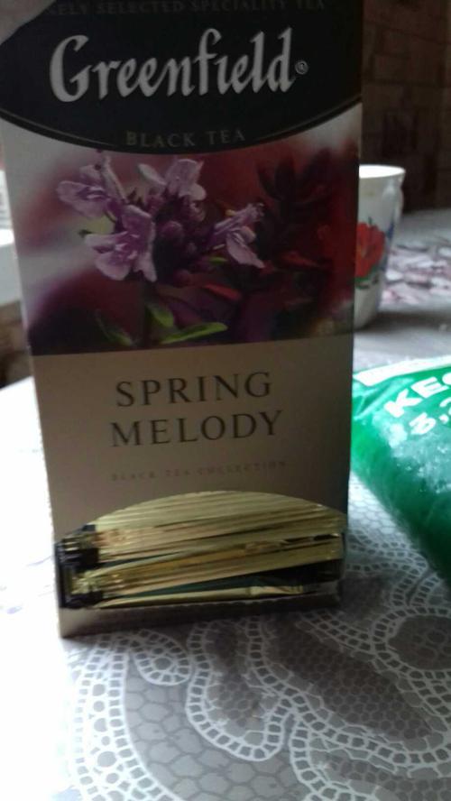 фото3 Чай черный байховый Гринфилд Спринг Мелоди в пакетиках