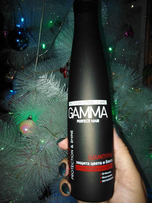 шампунь gamma perfect hair защита цвета и блеска
