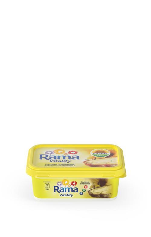 """Спред растительно-жировой """"Rama Vitality"""" с комплексом A, D, E 250 г"""