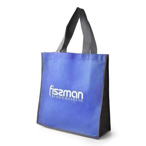 Промо-сумка 35x10x35см с логотипом Голубая