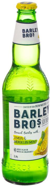 Напиток безалкогольный Barley Bros сильногазированный пастеризованный Барлей Бро Лимон и Марокканская мята, 0.44л ст/б