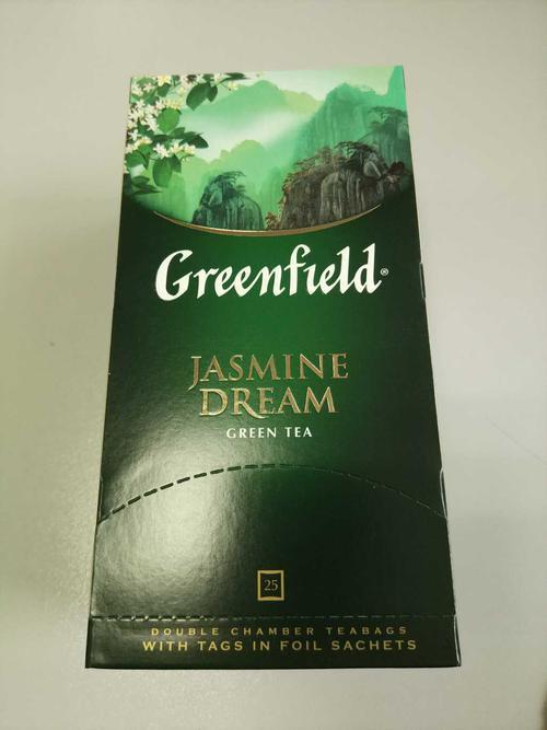 цена Чай зеленый байховый Гринфилд Жасмин Дрим в пакетиках
