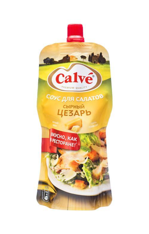 """Calve """"Сырный Цезарь"""" соус для салатов , 230 гр."""
