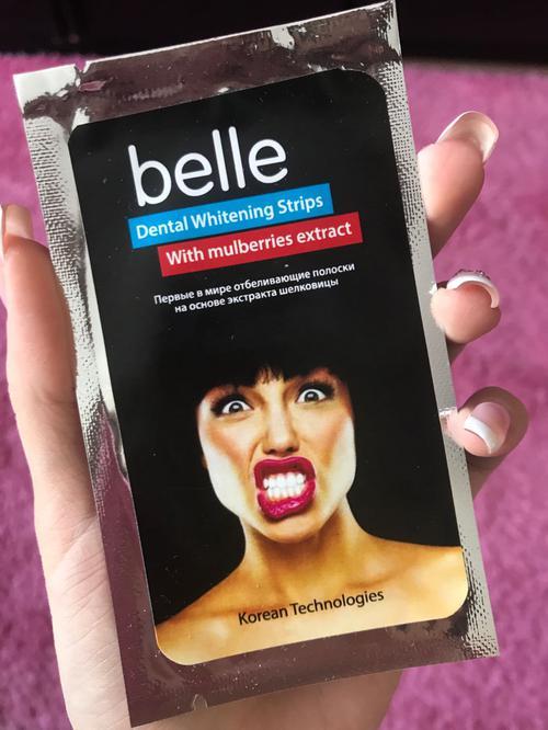 Отбеливающие полоски для зубов belle