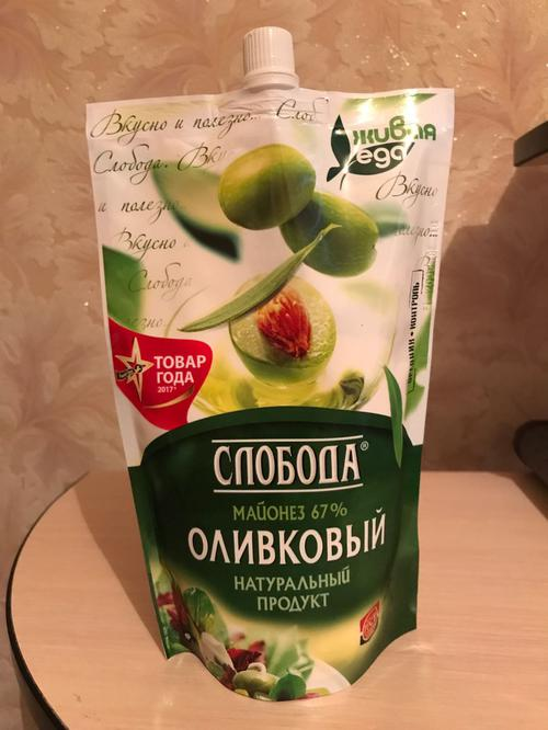 """фото15 Майонез """"Слобода"""" оливковый 67%, 400мл"""