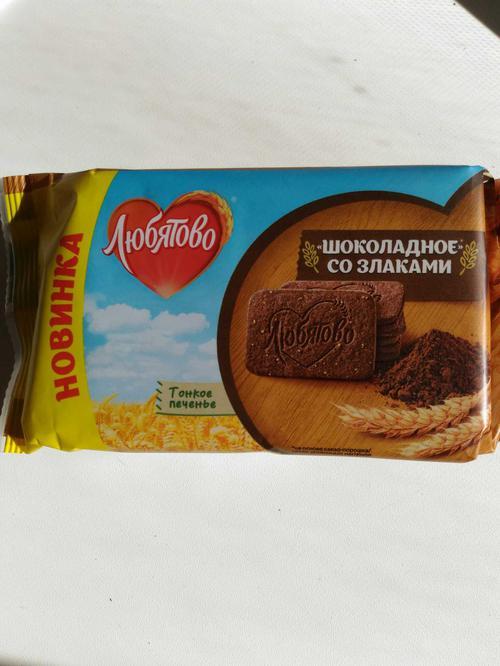 """описание печенье сахарное """"шоколадное"""" со злаками"""""""