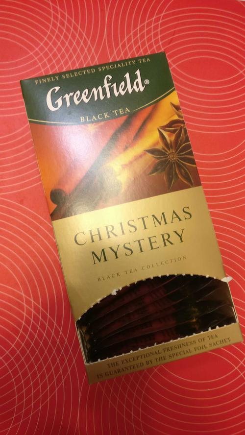 фото2 Чай черный байховый Гринфилд Кристмас Мистери в пакетиках