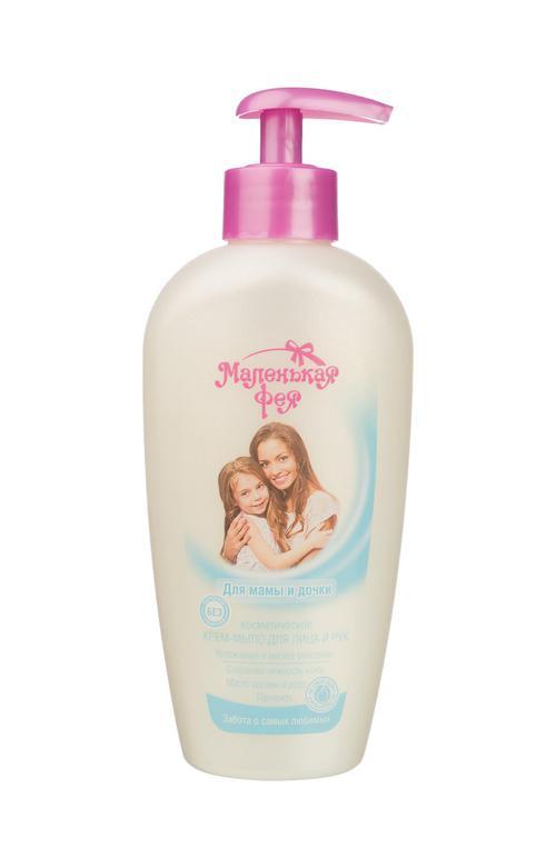 """цена Косметическое крем- мыло для лица и рук маленькая фея """"для мамы и дочки"""""""