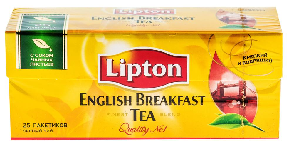 Чай Lipton English Brеakfast черный 25пак.х2г