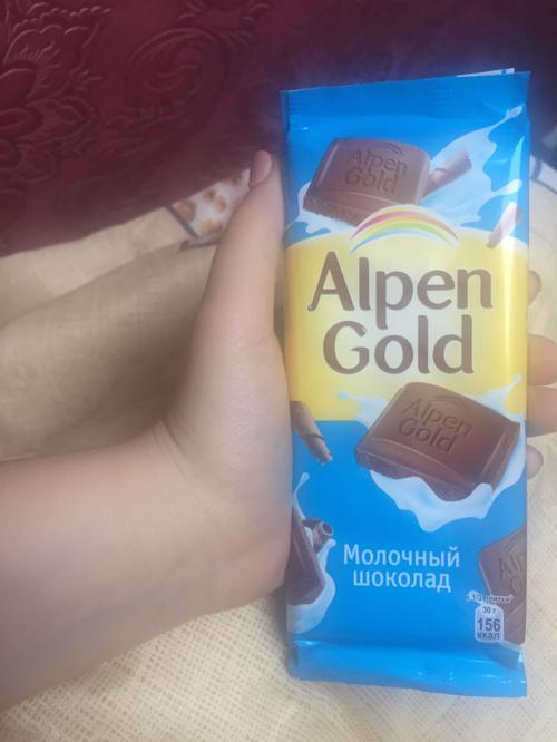 фото23 Шоколад Alpen Gold молочный, 90гр.