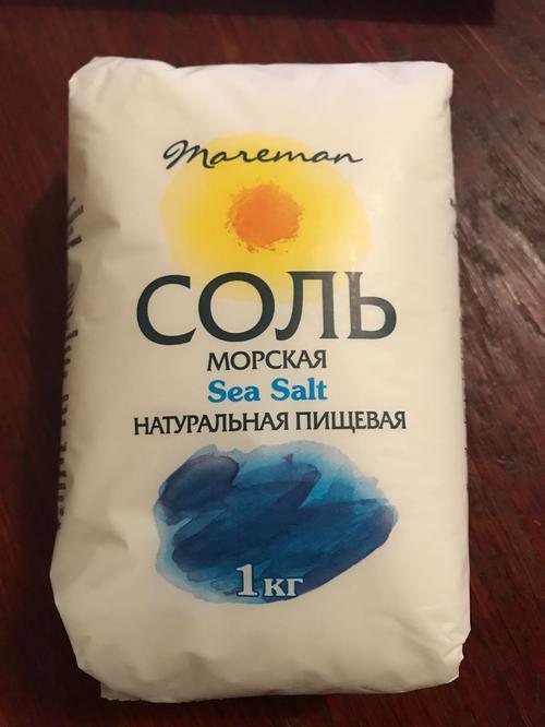 отзыв Соль морская Sea Salt натуральная пищевая, поваренная садочная