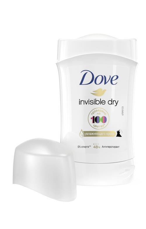 """отзыв Антиперспирант-карандаш """"Dove"""" Невидимый, 0% спирта, 40мл"""